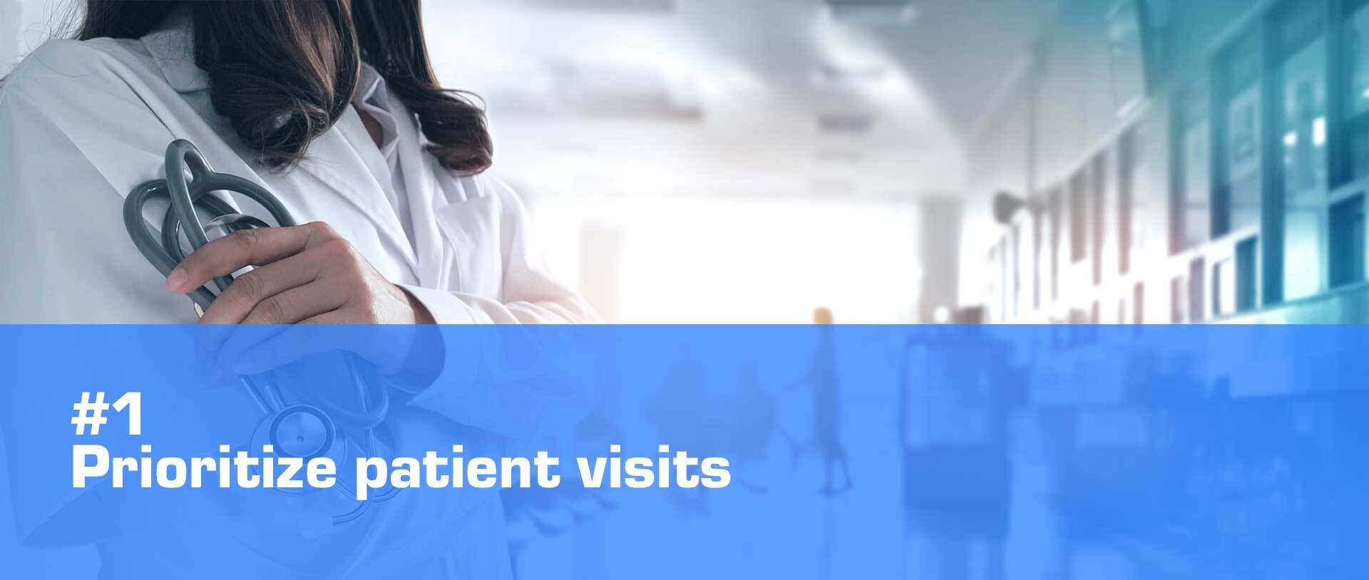 healthcare digital signage prioritize patient visits