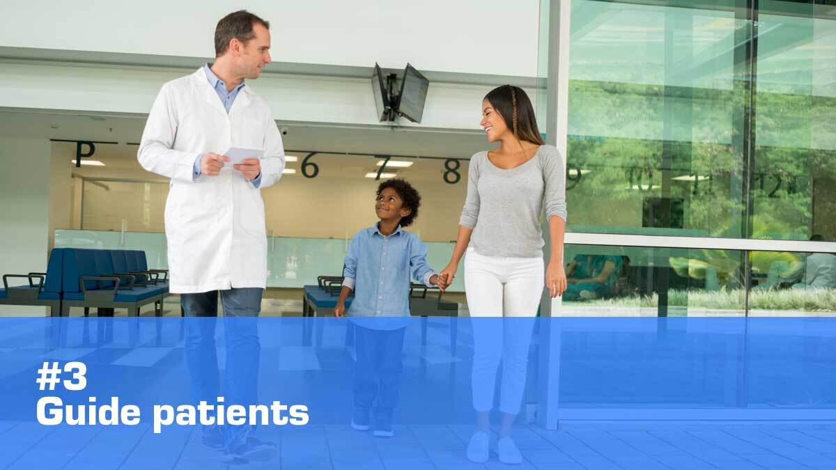 healthcare digital signage guide patients
