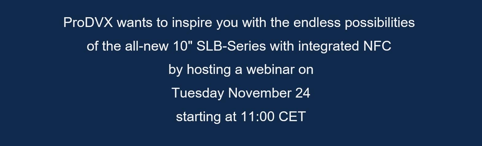 Webinar invite