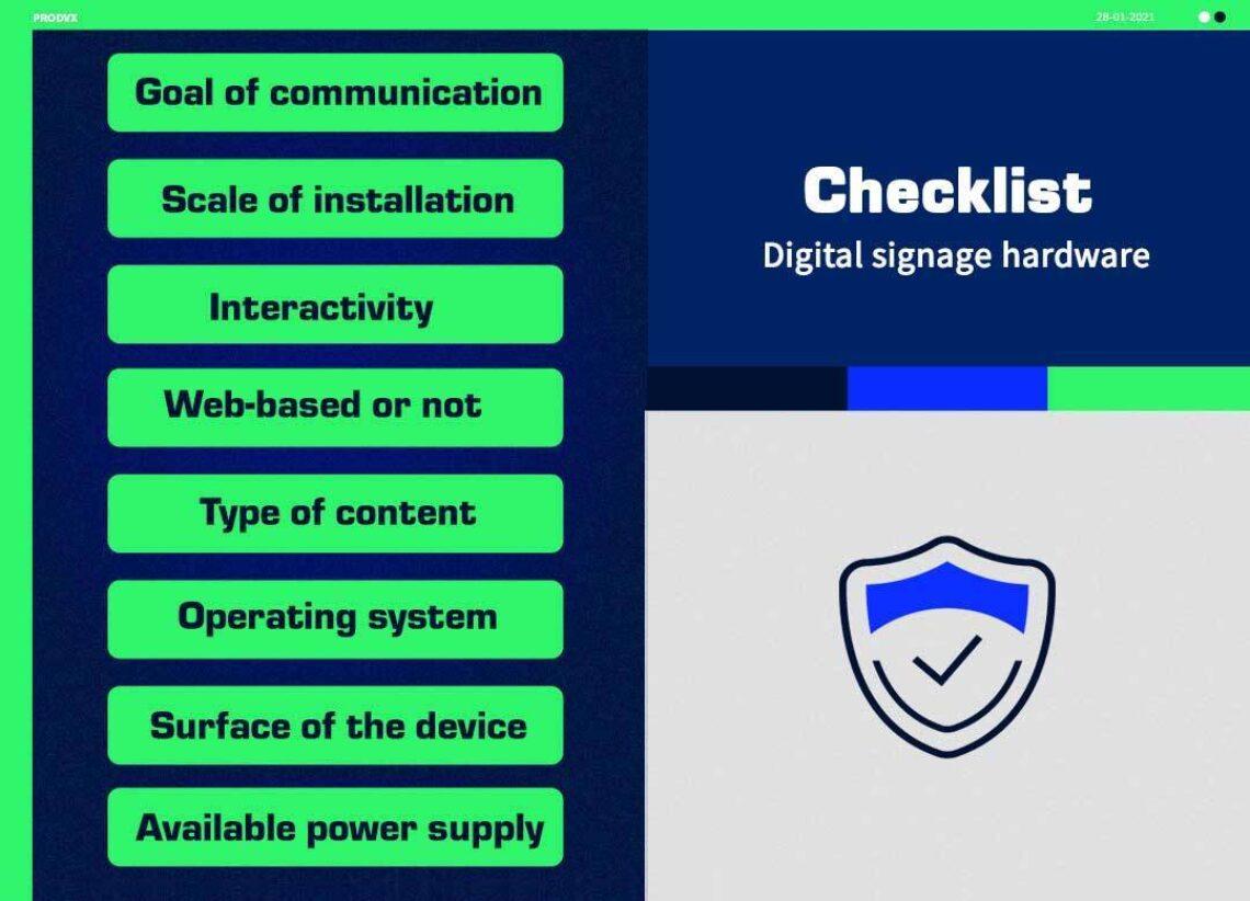 Digital Signagehardwarechecklist