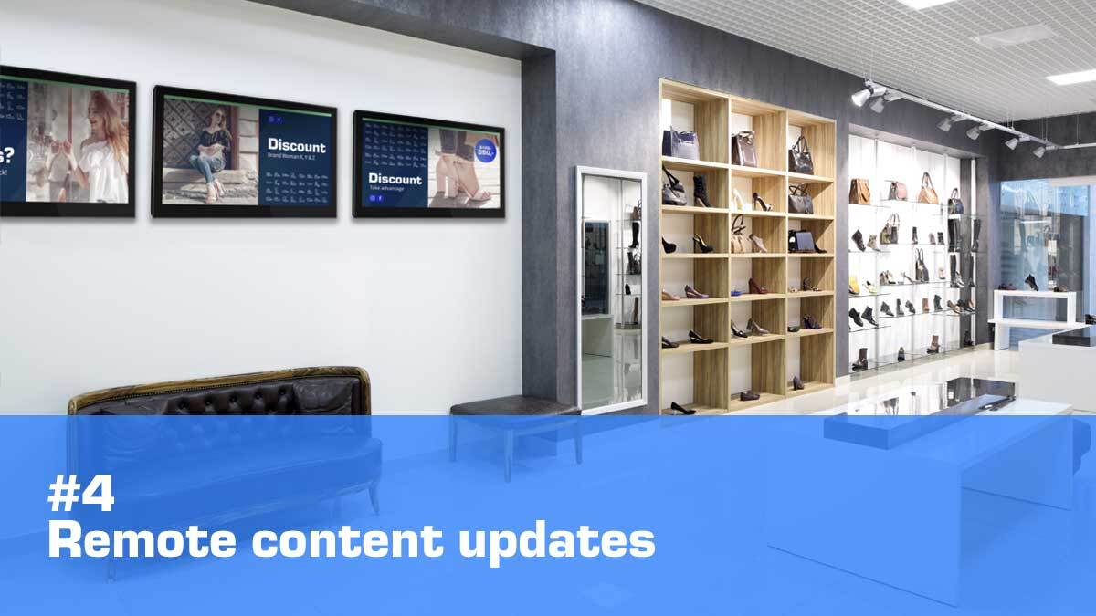 retail digital signage remote content updates