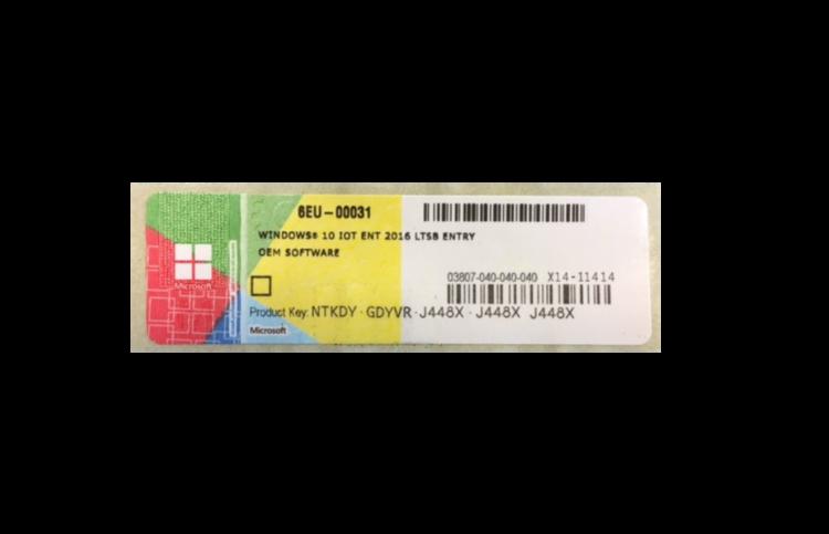 59001220 815 Windows 10 Io T Enterprise 2016 LTSB Entry s1800x